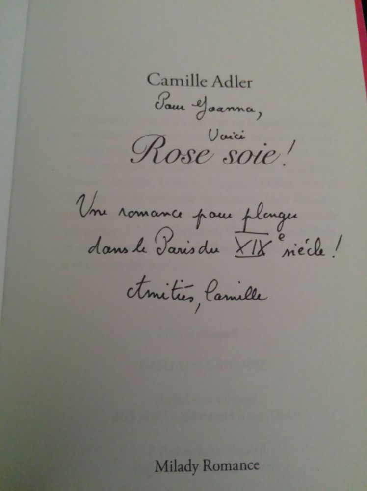Rose soie, Camille Adler (2014) (1/2)
